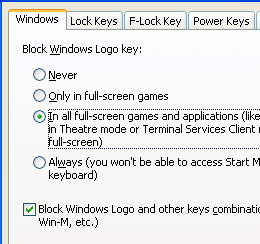 Block Win key while playing games